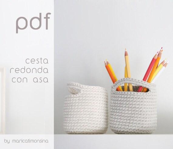 On Sale Crochet Pattern Pdf Pattern Crochet Basket Etsy