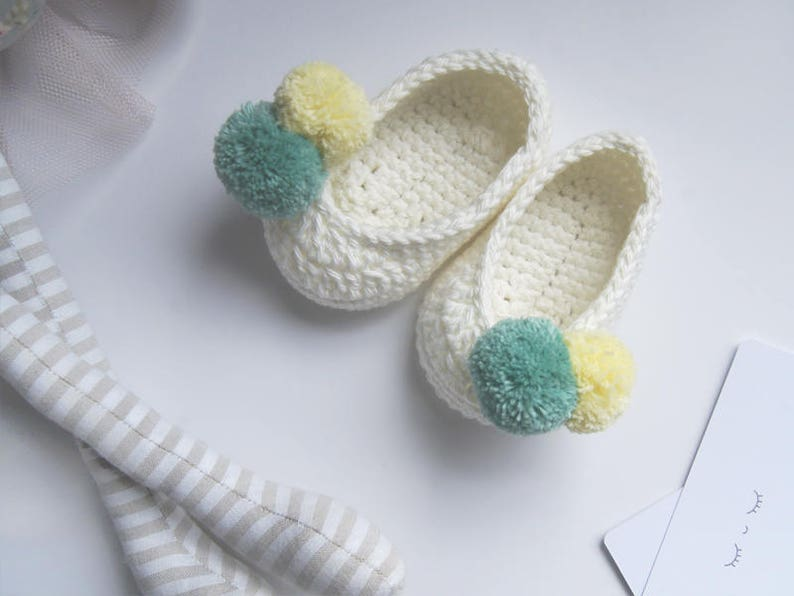 Slippers Crochet Baby Shoes Mary Jane Shoes Baby Girl Etsy