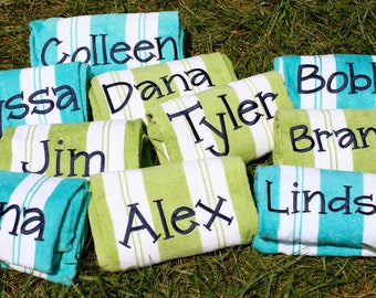 personalized beach towels etsy