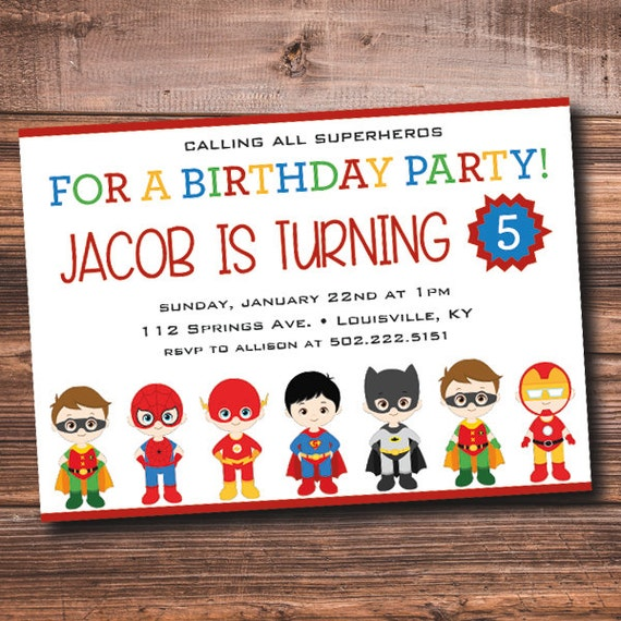 DIY Superhero Party Invitations