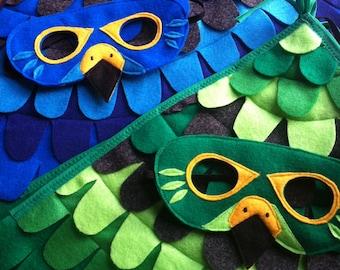Falcon Costume, Green Falcon, Blue Falcon, Wild Kratts Gift, Fly like a Falcon, Kids Gift, Imagination Required, Tree + Vine