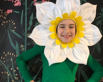 Be a Flower! Fun Flower Costumes, Studio made in USA, Valentine Gift for kids, Turn them into Flowers, fully stitched and machine washable!