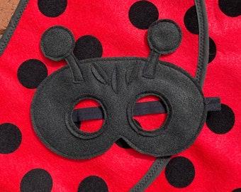 Ladybug Costume/ Wings and Mask / handmade in USA / bug costume / soft wings and detailed mask / fits 2-8 years!