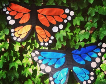 READY TO SHIP / Monarch Wings / Pink butterfly / Orange butterfly / kids butterfly costume, soft and flappable / handmade