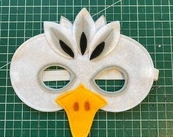 Seagull Costume // Wings and Mask //  Handmade Costume // Kids bird costume / Adult bird costume