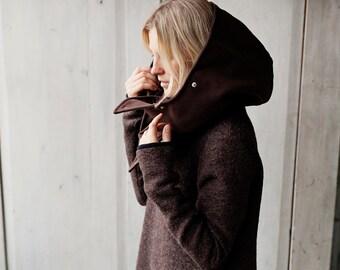 Hooded Scarf, Gift for Her, Hood Scarf, Shawl with Hood, Winter Hat, Hood Hat, Unique Shawl, Coat Fleece Hood, Hood Cowl, Unique Shawl