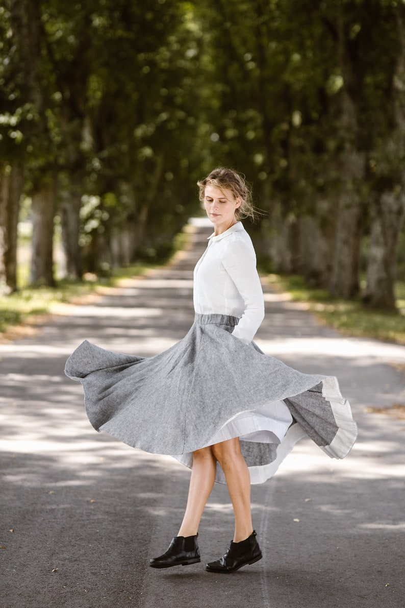 0377c68f828 Skirt For Women Linen Skirt Plus Size Linen Linen Clothing