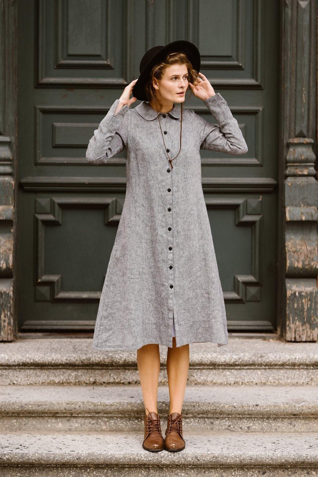 Plus Size Linen Dress Linen Dress Linen Clothing Plus Size | Etsy