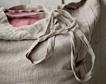 Large Linen Bag, Large Tote Bag, Linen Tote Bag, Large Shopper Bag, Shopping Tote, Matilda Linen Bag, Natural Linen Bag, Natural Linen