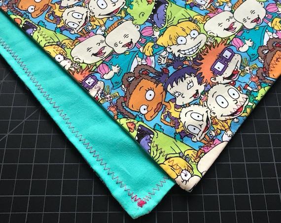 MADE TO ORDER-Handmade Rugrats Bandana-Customizable Colors-Snapback Scarf Bandana-Everyday Wear-Snowboard-Bmx Bandana-Double Layered