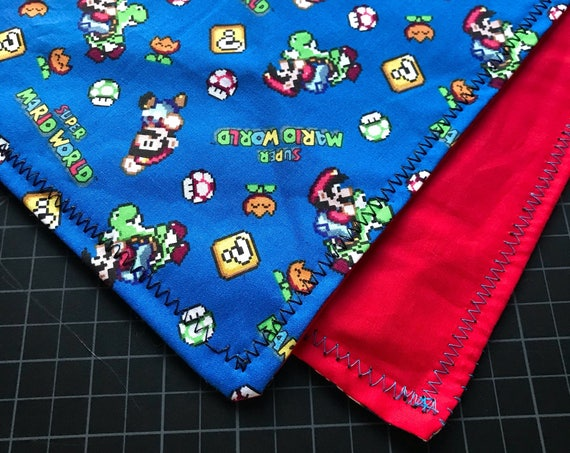 MADE TO ORDER-Handmade Super Mario World Bandana-Made Just For You-Super Nintendo-Gamer Gifts-Customizable Colors