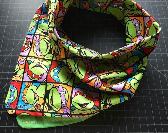 MADE TO ORDER-Handmade Teenage Mutant Ninja Turtle Bandana-Snapback Bandana-Made Just For You-Customizable Colors
