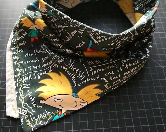 MADE TO ORDER-Handmade Hey Arnold Bandana Scarf-Made Just For You-Customizable Colors-Handmade-Nickelodeon