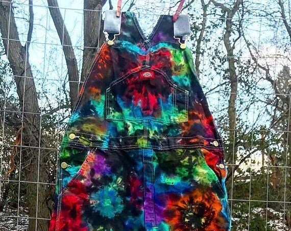 NEW-Made To Order-Tie Dyed Dickies Unisex Cotton Overalls-ALL Sizes/Colors Available
