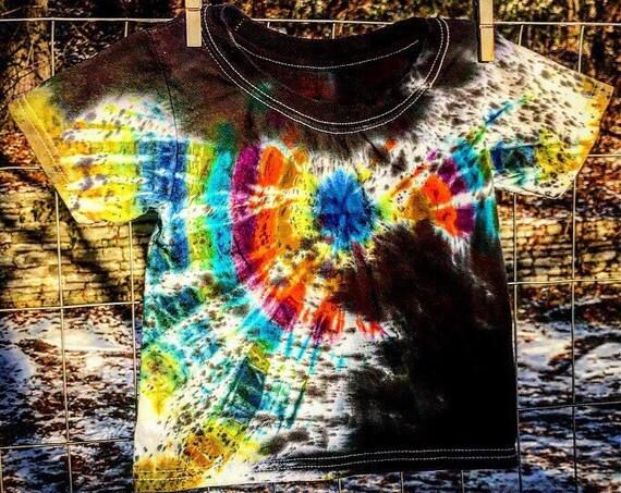 READY to SHIP-Little Kids Tie Dye-Size 2T/3T Cotton T Shirt-Unisex Cotton Garment