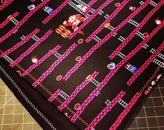 MADE TO ORDER-Custom Handmade Nintendo Donkey Kong Arcade Game Bandana-Snapback Bandana-Made Just For You-Customizable Colors