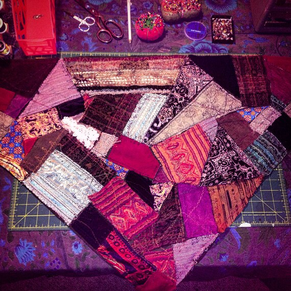 CUSTOM Patchwork Bandanas-Custom Colors-Optional Doilies, Buttons & Zippers-Custom Fabric Options-Optional Essential Oils