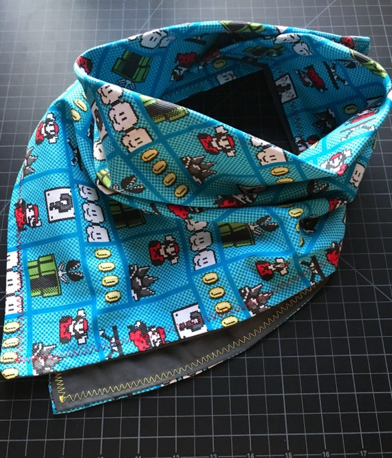 MADE TO ORDER-Handmade Old School Nintendo Bandana-Made Just For You-Customizable Color Options-Snapback Scarf Bandana