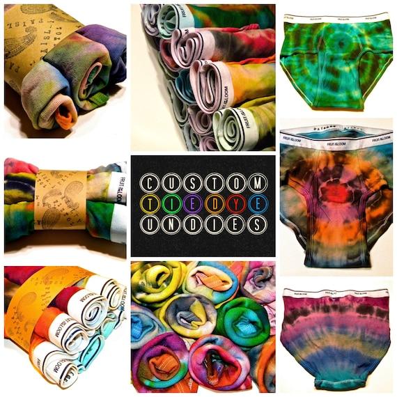 CUSTOM Tie-Dyed Men's Brief Underwear-Anniversary-Valentines Gift-ALL SIZES