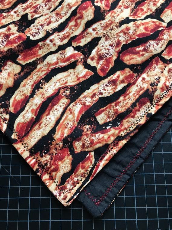 Made To Order-Bacon Bandana-Snapback-Double Layered-Red and Black Bacon Bandana