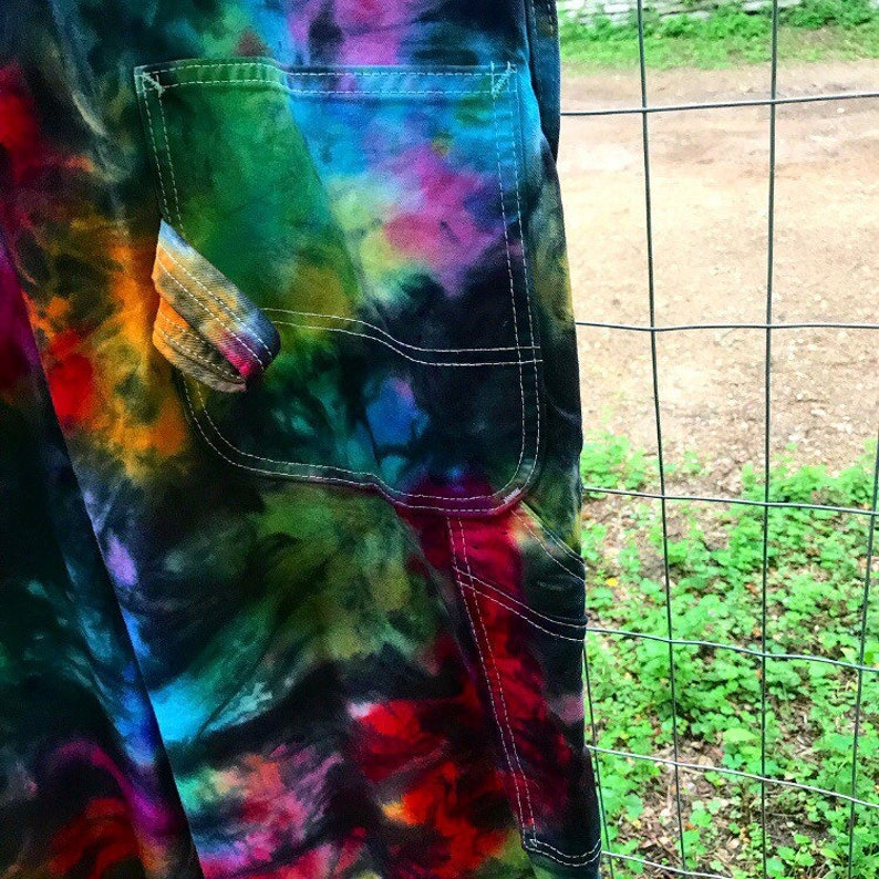 NEW-Made To Order-Tie Dyed Dickies Unisex Cotton Overalls-ALL SizesColors Available