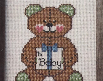 Baby Teddy Bear Counted Cross-Stitch Kit