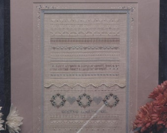 Skelton School Sampler Counted Cross-Stitch PARTIAL Kit - MISSING FABRIC!
