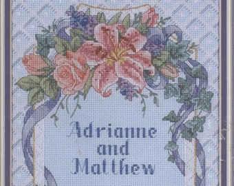 Floral Trellis Wedding Record Counted Cross-Stitch Kit