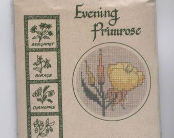 Nachtkerzenöl-Blumen-Gruß-Karte gezählt Kreuzstich Kit