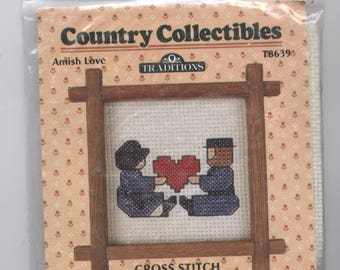 Amish Liebe gezählt Kreuzstich Kit mit Rahmen
