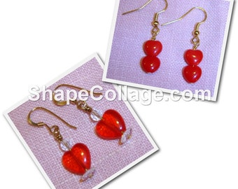 SALE! RED HEART Earrings - Choice of Two Pairs