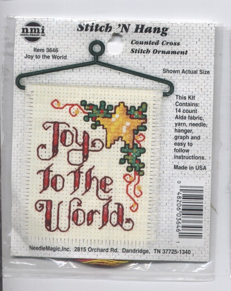 NEW  Stitch N Hang Count Cross Stitch Santa's List Christmas Ornament nmi