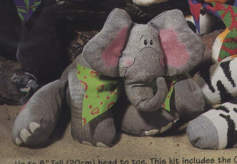 ELEPHANT Stuffed Toy Sewing Kit CottonPaws by Dimensions