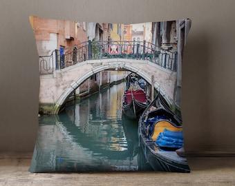 Travel Gift, Venice Decorative Throw Pillow Cover, Fine Art Photography Pillow Case, Italy Decor, Venice Pillow, Italy Pillow