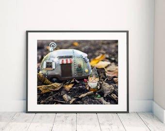Fairytale Gift, Garden Gnome, Gnome Photo, Gnome Art, Gnome Photo, Gnome Photography, Whimsical Art, Nursery Art, Kids Room Art,