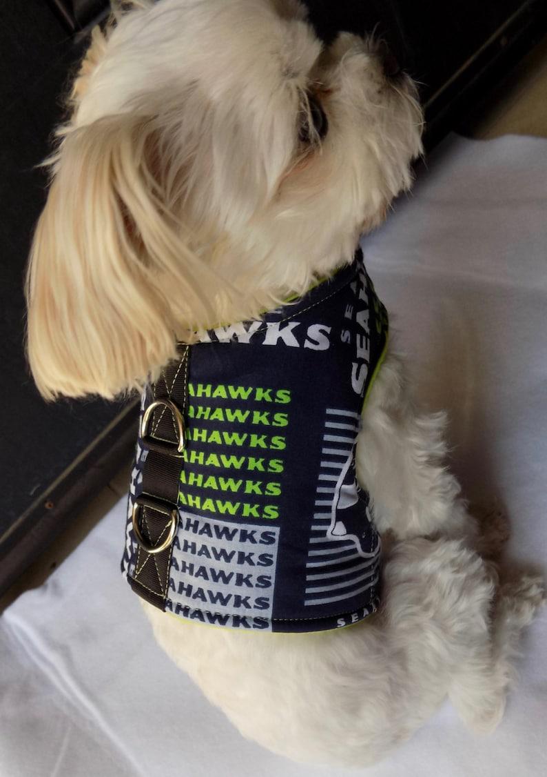3d87cf8d5 Dog Vest Harness. Seattle Seahawks Dog Vest Harness. Small | Etsy