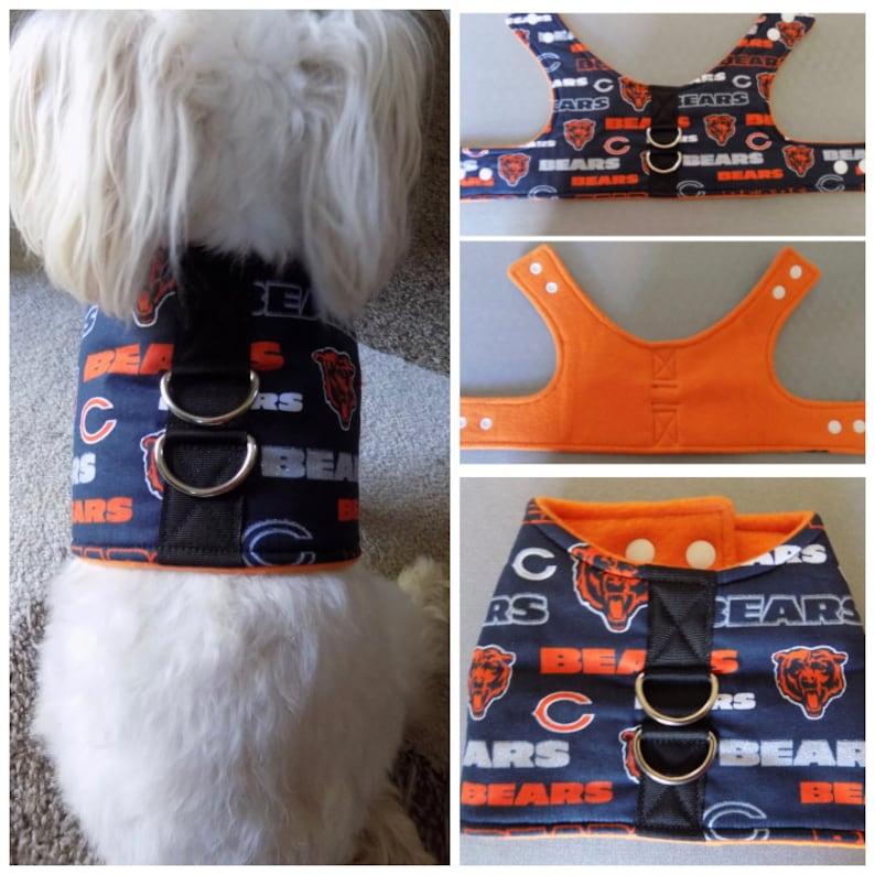 cheap for discount b6aa9 fcc78 Chicago Bears Dog Vest Harness.Bears Dog Vest Harness.Chicago Bears Dog  Harness.Bears Dog Harness.