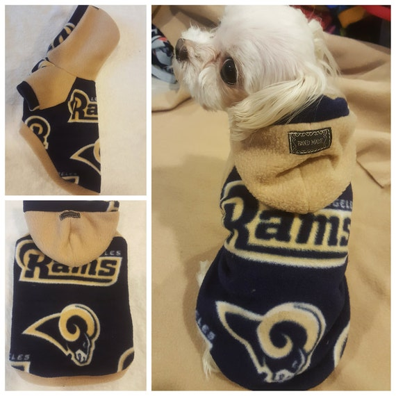 6622280ba Small breeds Dogs Sweater. Los Angeles Rams Football Fleece
