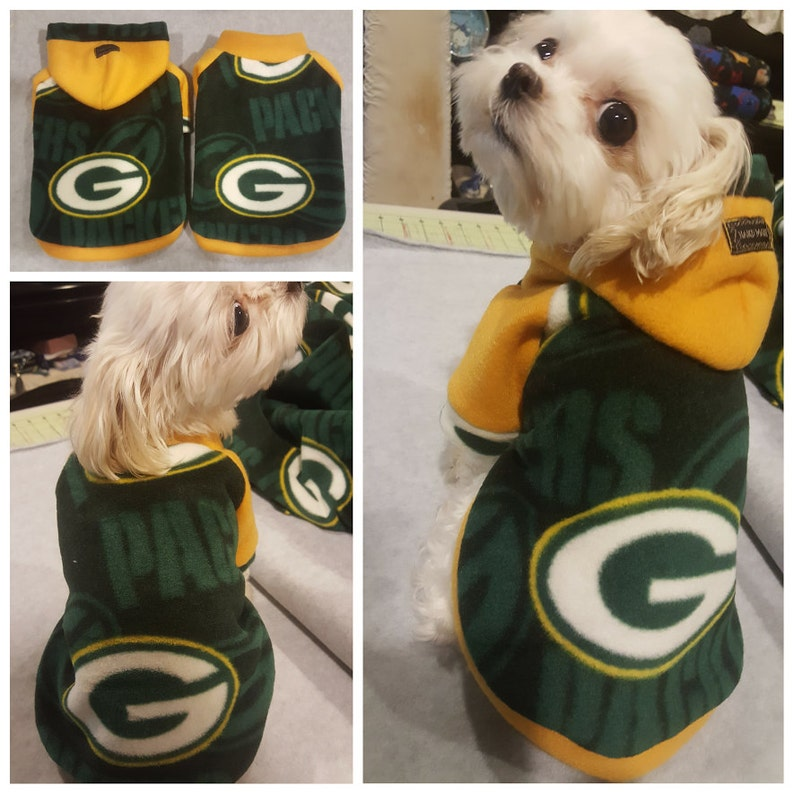 on sale 87fb8 bfb03 Small breeds Dogs Green Bay Packers Football Fleece Hoodies.Small breed dog  Sweater. size S.M.L.XL.XXL (PLEASE check the size before order)