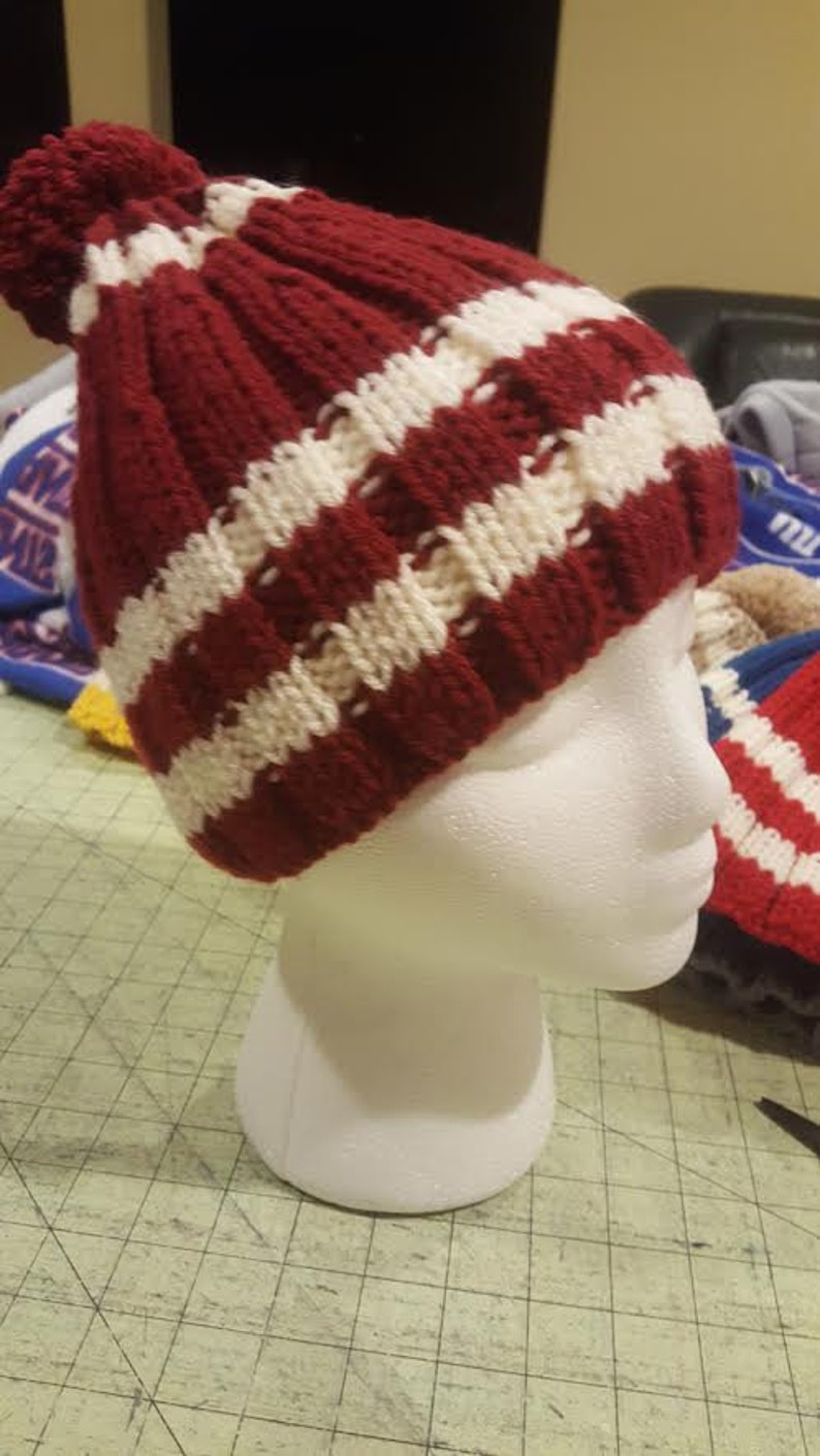 Set of Hand Knit Kids Children Toddler Knit Hat Beanie with pom pom  Fox key hole Neck warmerScarf