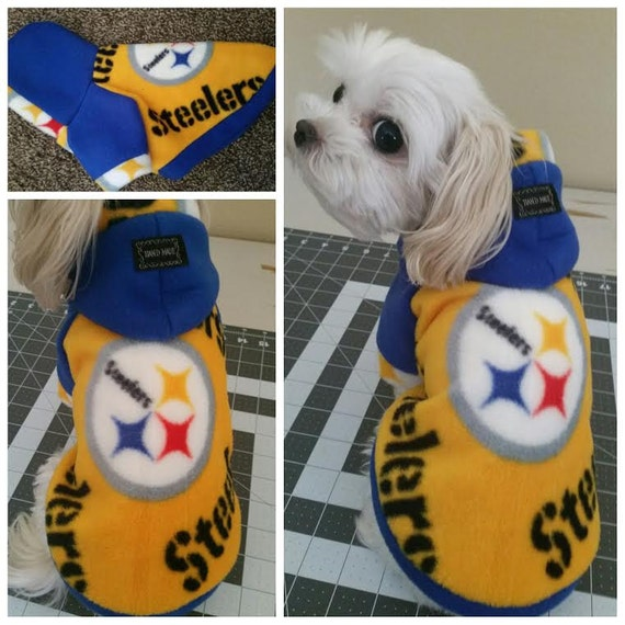 new styles 3104c a1d9d Small breeds Dog Fleece Sweater. Pittsburgh Steelers Fleece Hooded Sweater.  Please check the size Measurement on the listing before ordering