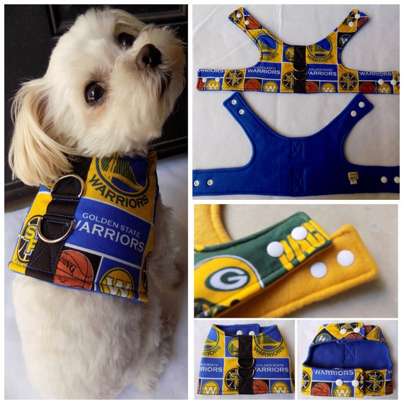 new concept d8001 09950 Dog Vest Harness. Golden State Warriors Dog Vest Harness. Small Breed  Dogs/Cats vest harness. Warriors dog vest harness.