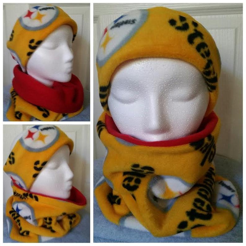 5210fef0 Pittsburgh Steelers Fleece Headband/Neck Warmers Set. Steelers Ear Muffs.  Steelers Neck warmer. Kids or Adult