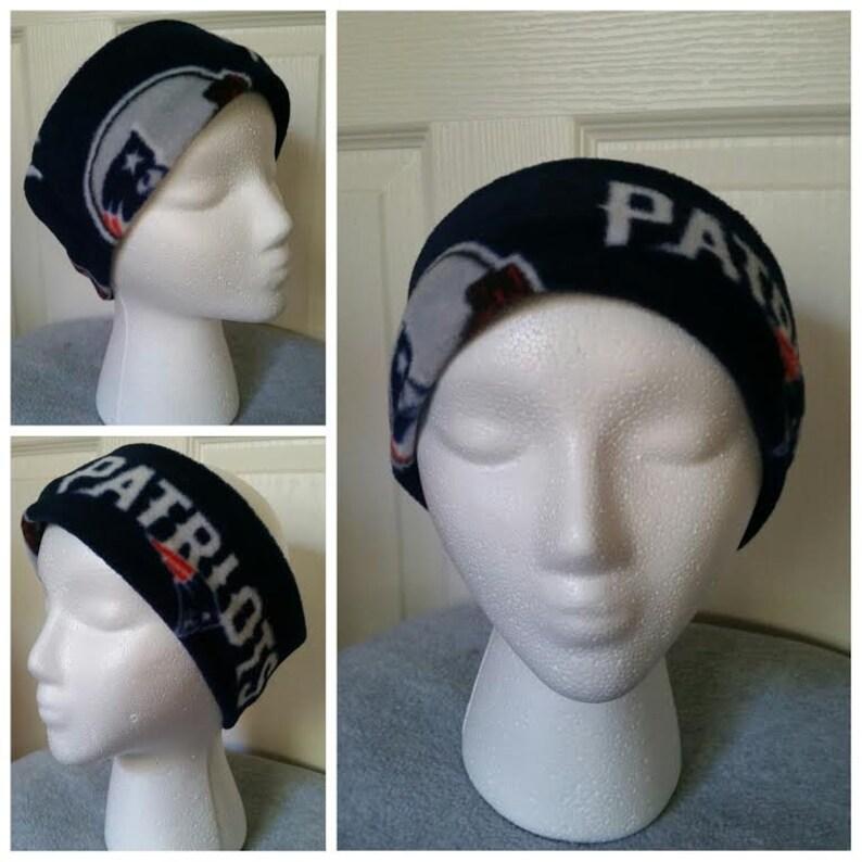 07dbccc9 New England Patriots FleeceHeadband, Patriots Ear warmer. Patriots Ear  Muffs. Adult or Kids