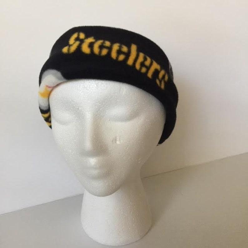 dbdf615d Pittsburgh Steelers Fleece Headband, Steelers Ear Warmers. Steelers Ear  Muffs. Kids or Adult