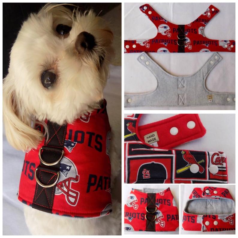 3e89a9e8 New England Patriots Dog Vest Harness. Patriots Dog Vest | Etsy