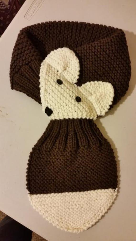 Verstellbare Hand stricken Fuchs Schal / Halswärmer für Kinder | Etsy