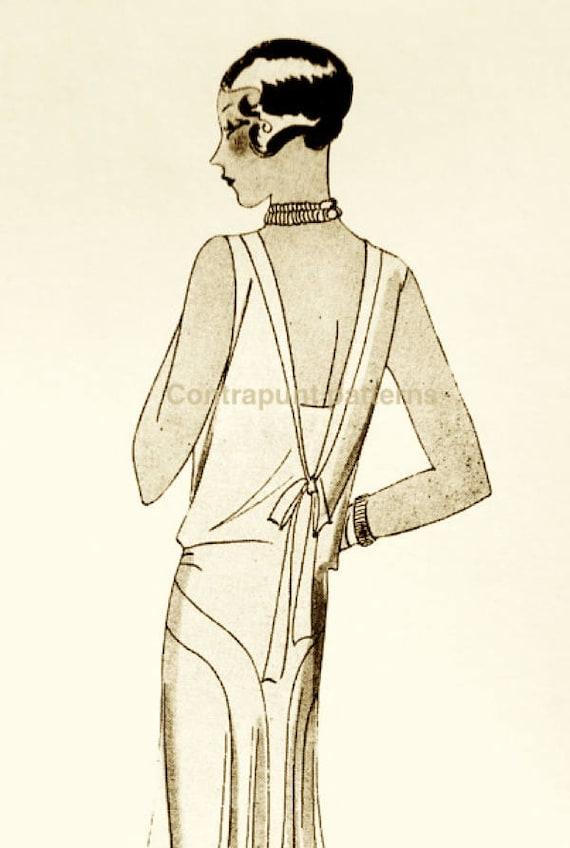 Patrón de vestido años 20 a medida o talla estandar. Puede   Etsy