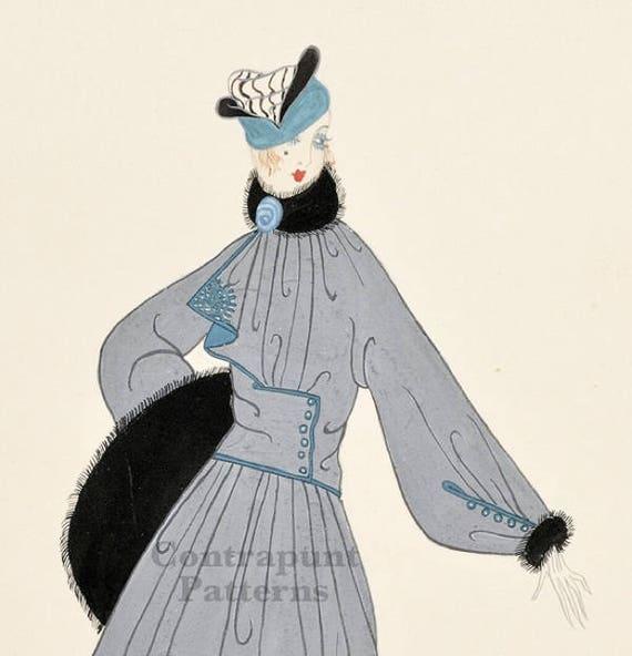 Patrón para coser de abrigo/ jacket estilo 1920. | Etsy