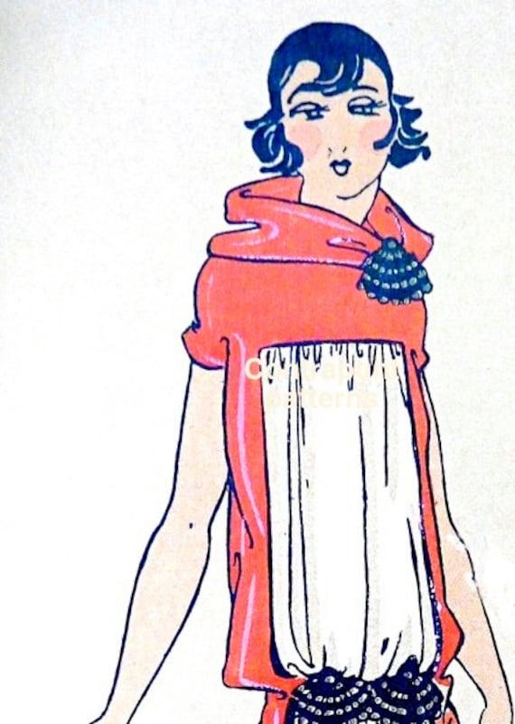 Patrón para coser estilo años 20. Vestido recto y airoso con | Etsy